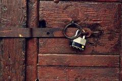 Locked door Stock Image