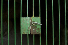 Locked door Royalty Free Stock Images