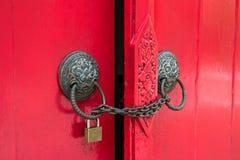 Locked door Royalty Free Stock Photo