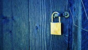 A locked door royalty free stock image