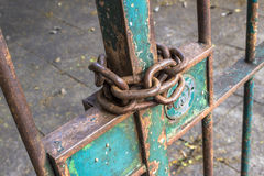 Locked door Royalty Free Stock Images