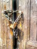 Locked door Royalty Free Stock Photo