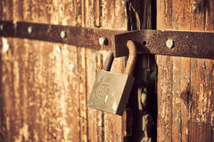 Locked door Royalty Free Stock Photography
