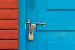 Locked door Royalty Free Stock Image