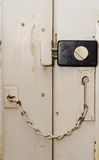 Locked door Stock Photo