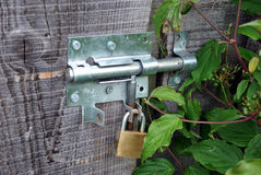 Locked door Royalty Free Stock Photos