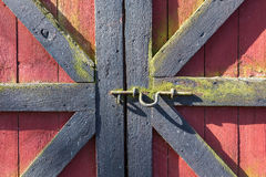 Locked doors Stock Images