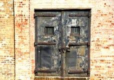 Locked Doors. Vintage steel doors in downtown Chicago Royalty Free Stock Photography
