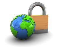 Locked earth Stock Image