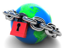 Locked earth Royalty Free Stock Images