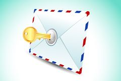 Locked Envelope Royalty Free Stock Image