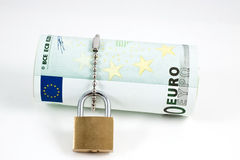 Locked euro Royalty Free Stock Photos