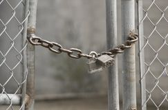 Locked fence Stock Image