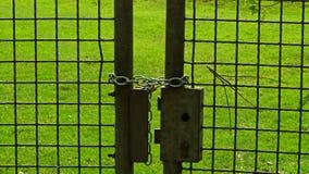 Locked fence royalty free stock photography