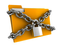 Locked folder Stock Photography