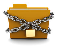 Locked folder Royalty Free Stock Images