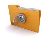 Locked folder Royalty Free Stock Photo