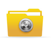 Locked folder Royalty Free Stock Photography