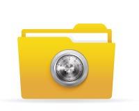 Locked folder. With combination lock. EPS-10 Royalty Free Stock Photography