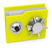 The locked folder Stock Image