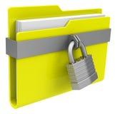 The locked folder Stock Photography