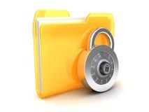 Locked folder Royalty Free Stock Images
