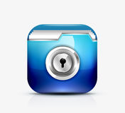 Locked folder icon / folder protection concept.  Royalty Free Stock Images