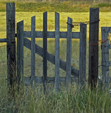 Locked Gate. This image of the gate with the chain and lock was taken in western MT Royalty Free Stock Photo