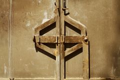 Locked gate. Day, close up. Abstract background Royalty Free Stock Photo
