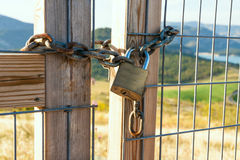 Locked gate Stock Images