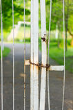 Locked gate Royalty Free Stock Photos