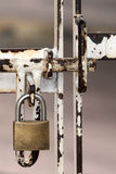 Locked gate detail Stock Photo
