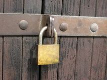 Locked gate Royalty Free Stock Image