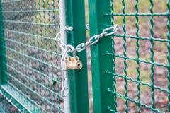 Locked gate Stock Images