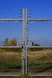 Locked gates. Closed and locked gates stock image