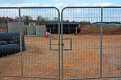Free Locked Gates On Construction Site Stock Photography - 33052142