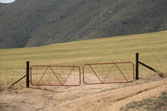 Locked gates Stock Photo