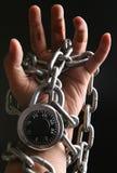 Locked hand Royalty Free Stock Photos