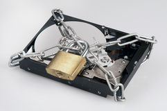 Locked hard disk Royalty Free Stock Photography