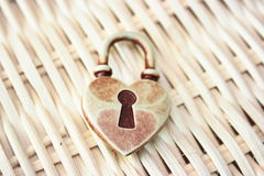 Locked heart Royalty Free Stock Photos