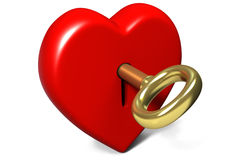 Locked heart Stock Photography