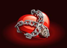 Locked Heart Royalty Free Stock Photo