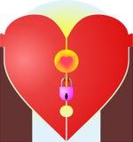 Locked heart Stock Photos