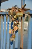 Locked heart Stock Image