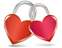 Locked Hearts Royalty Free Stock Image