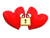 Free Locked Hearts Royalty Free Stock Photography - 8181127