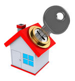 Locked house Stock Photography