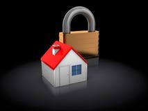 Locked house Stock Photo