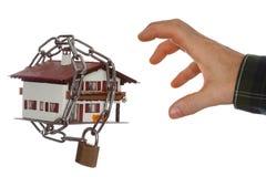 Locked house model Royalty Free Stock Photos