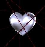 Locked iron heart Stock Images